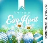 beautiful easter blue... | Shutterstock . vector #371902942