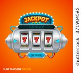 futuristic slot machine... | Shutterstock .eps vector #371904562