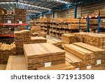 timber in warehouse | Shutterstock . vector #371913508