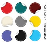 modern sale stickers collection  | Shutterstock .eps vector #371914192