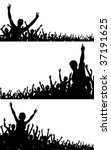 set of editable vector crowd... | Shutterstock .eps vector #37191625