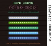 led rope lights style vector... | Shutterstock .eps vector #371919955