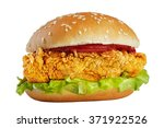 Classic Chicken Burger Isolated