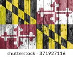 flag of maryland painted on... | Shutterstock . vector #371927116