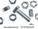 One Of Metal Screw And Nuts...