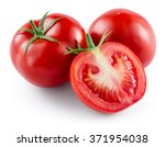 tomato isolated on white. with... | Shutterstock . vector #371954038