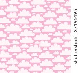 decorative background with cloud | Shutterstock .eps vector #37195495