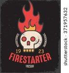 firestarter. vintage tee print... | Shutterstock .eps vector #371957632