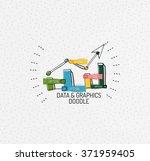 vector multicolored hand drawn... | Shutterstock .eps vector #371959405