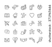 vector doodle love icons and... | Shutterstock .eps vector #371965666