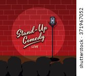 stand up comedy stage live show | Shutterstock .eps vector #371967052