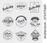 barber label sticker badge hand ... | Shutterstock .eps vector #371970682