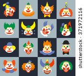 clown faces | Shutterstock . vector #371972116