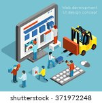 web development ui design | Shutterstock . vector #371972248