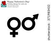 web line icon. gender symbol ...   Shutterstock .eps vector #371983432