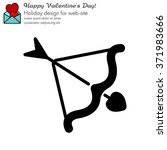 web line icon. cupid's arrow. | Shutterstock .eps vector #371983666