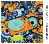 vector colorful turn table dj... | Shutterstock .eps vector #371987488