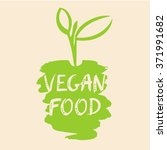 vegan food vector illustration. ... | Shutterstock .eps vector #371991682