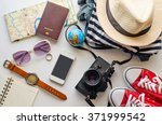 travel accessories and costume... | Shutterstock . vector #371999542