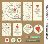 set of cards  gift tags and... | Shutterstock .eps vector #372000982