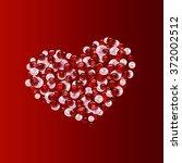 valentines day card  | Shutterstock . vector #372002512
