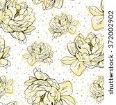 Yellow Peony Dotted Pattern....