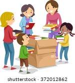 stickman illustration of kids... | Shutterstock .eps vector #372012862