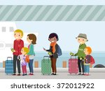 illustration of passengers... | Shutterstock .eps vector #372012922