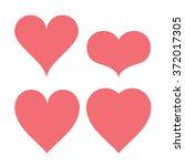 heart shapes type set ranging...   Shutterstock .eps vector #372017305