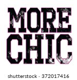 more chic type slogan for... | Shutterstock .eps vector #372017416
