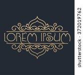 calligraphic design element.... | Shutterstock .eps vector #372019762