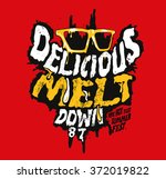 down  type slogan for clothing  | Shutterstock .eps vector #372019822
