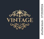 calligraphic design element.... | Shutterstock .eps vector #372020026