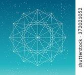 circular geometric shape.... | Shutterstock .eps vector #372021052