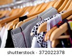 Stock photo multi coloured wardrobe showcase 372022378