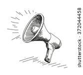 megaphone drawing | Shutterstock .eps vector #372044458