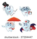 clever teeth hurry up on help | Shutterstock .eps vector #37204447