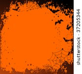 halloween background with place ... | Shutterstock .eps vector #37205344
