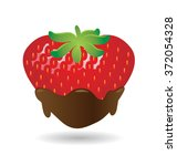 chocolate dipped strawberry...   Shutterstock .eps vector #372054328