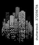 vector design building and city ... | Shutterstock .eps vector #372058756