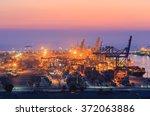 container cargo freight ship... | Shutterstock . vector #372063886