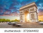 arc de triomphe  paris city at... | Shutterstock . vector #372064402