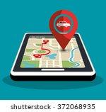 gps navigation technology | Shutterstock .eps vector #372068935