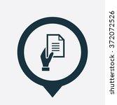 vector hand holding document... | Shutterstock .eps vector #372072526