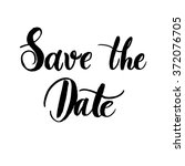 save the date of hand lettering ... | Shutterstock .eps vector #372076705