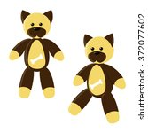 cartoon funny toy dog  with a...   Shutterstock .eps vector #372077602