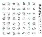 modern thin line icons set of... | Shutterstock .eps vector #372083332