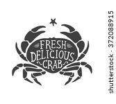 Fresh Delicious Crab Hand Draw...