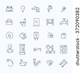 vector plumbing outline icons... | Shutterstock .eps vector #372090382