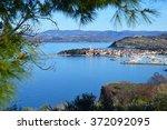 izola  slovenia. old venetian... | Shutterstock . vector #372092095